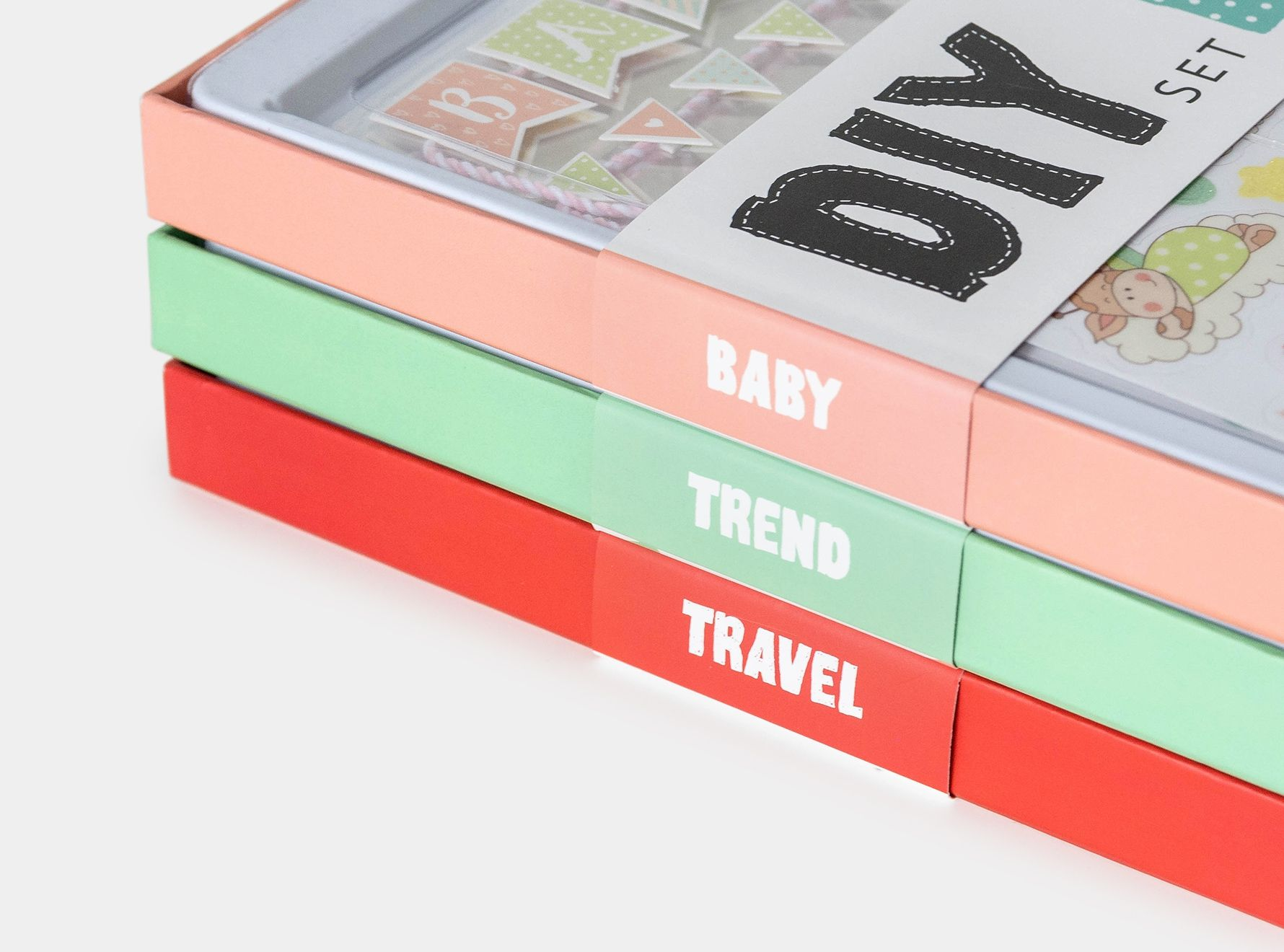 Scrapbook Boxen Baby, Trend, Travel